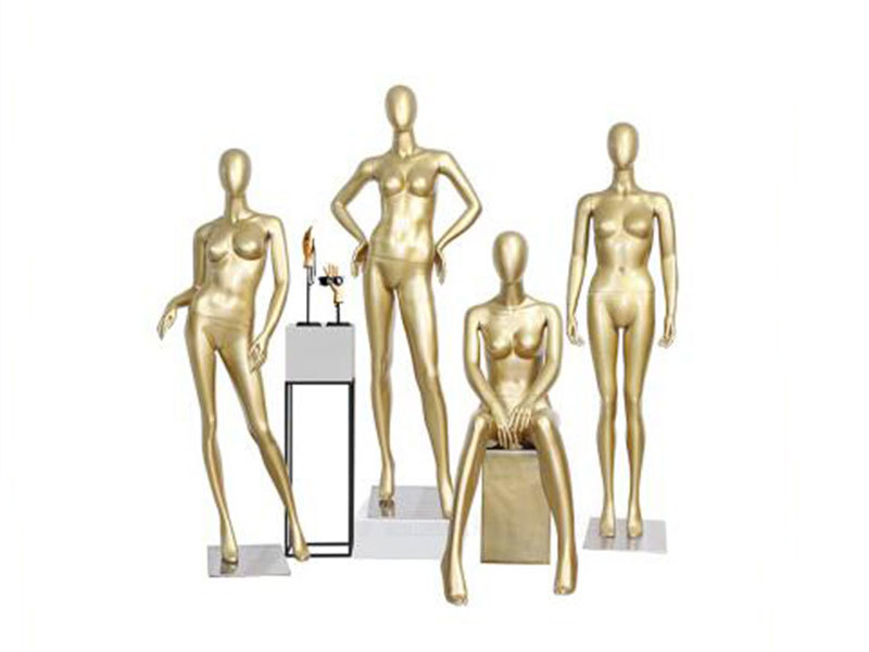 Factory Wholesale Gold Woman Mannequin Standing And Clothing Shop Display Female Mannequin For Sale