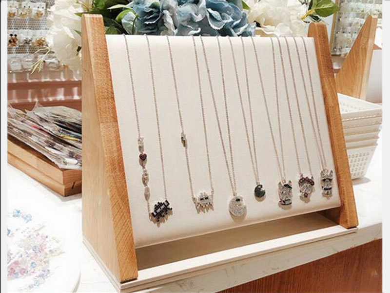 OEM High Creative Chinese New Wooden Necklace, Earrings Display Props Holder