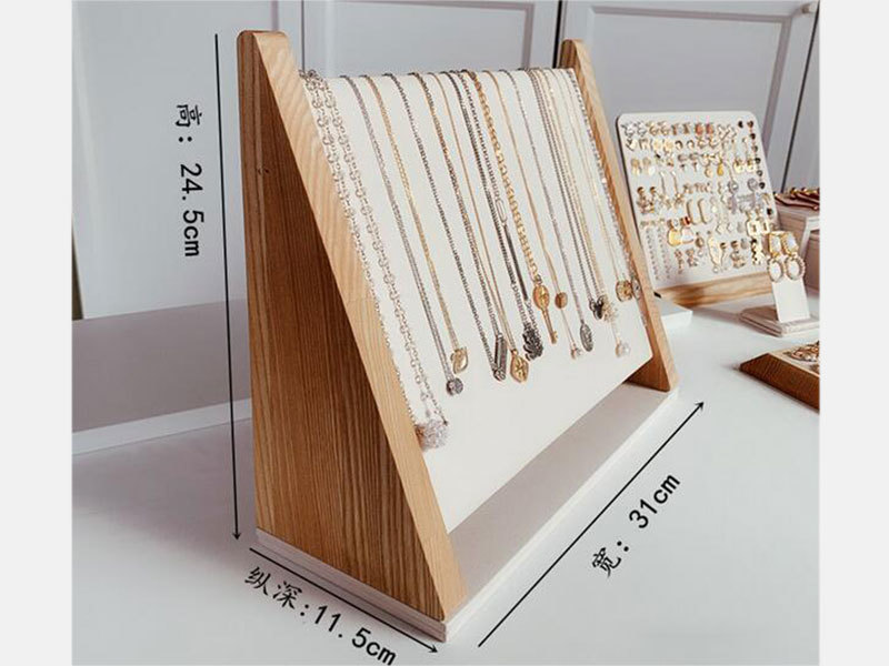 product-LEEVANS-OEM High Creative Chinese New Wooden Necklace, Earrings Display Props Holder-img