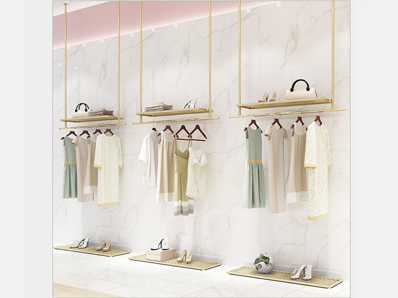 product-LEEVANS-High Quality Shop Display Rack Unique Design Metal Stand For Clothing Store-img