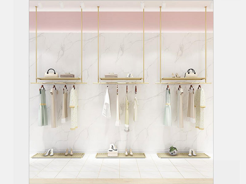 High Quality Shop Display Rack Unique Design Metal Stand For Clothing Store