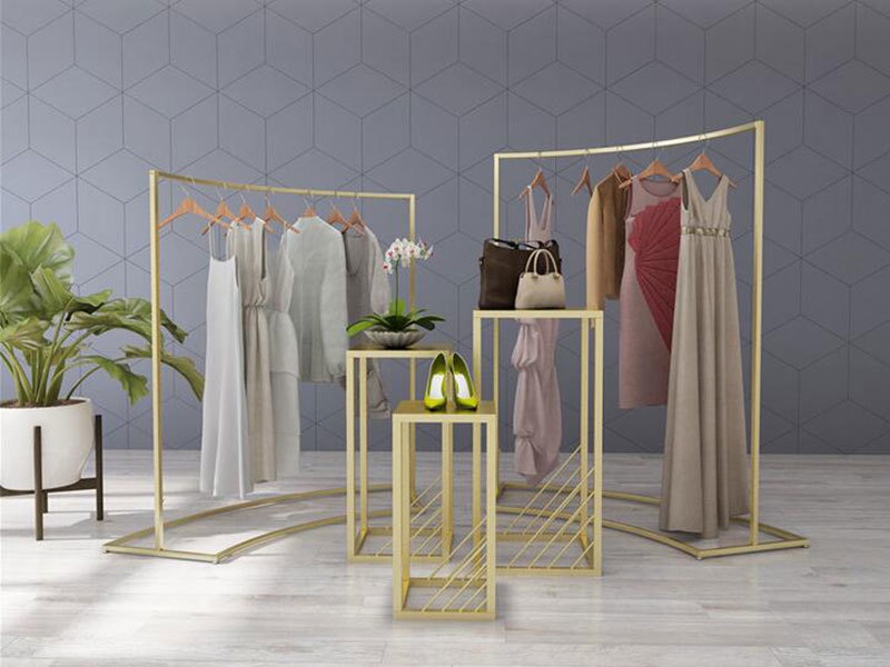 Hot Sale New Design Clothing Store Display Rack On The Wall Female's Clothes Display Stand