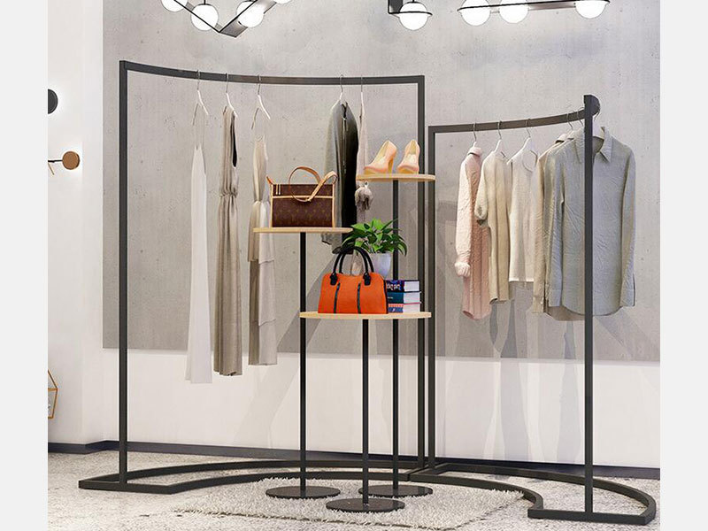 product-LEEVANS-Hot Sale New Design Clothing Store Display Rack On The Wall Females Clothes Display