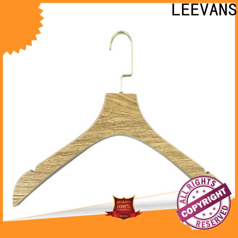 LEEVANS New white wooden hangers wholesale company for pants