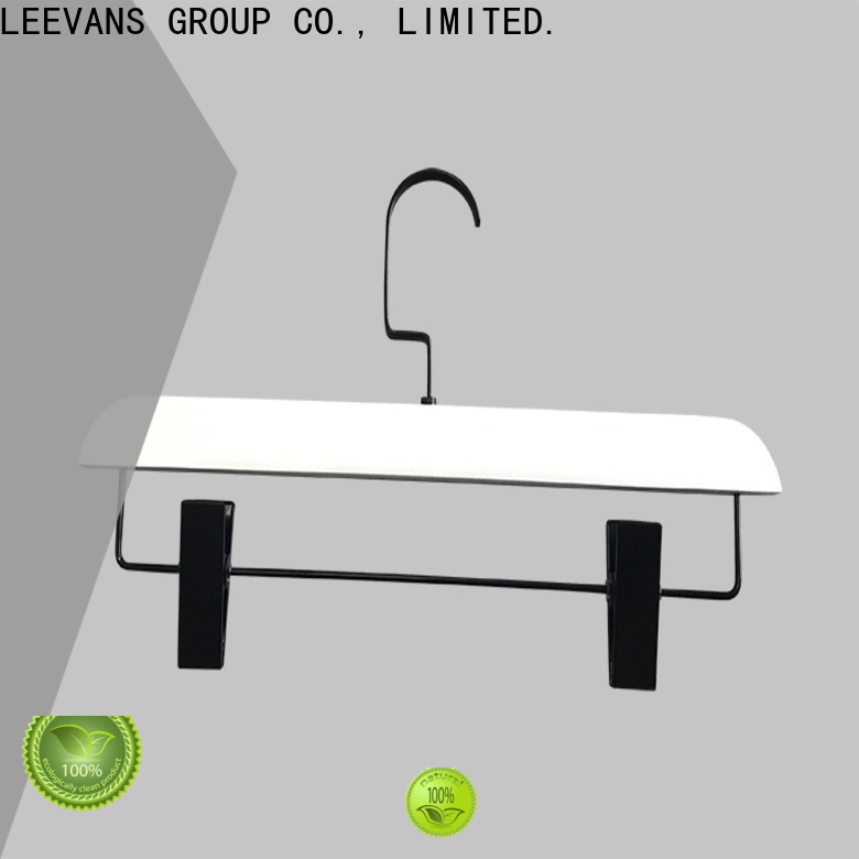 LEEVANS slip white wooden hangers wholesale for business for children