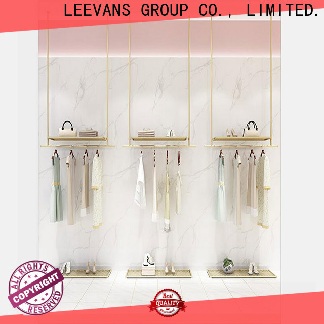 LEEVANS Latest clothes display stand for business