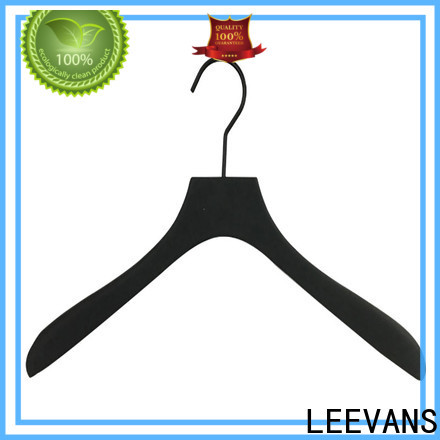 LEEVANS High-quality white wooden pant hangers manufacturers for kids