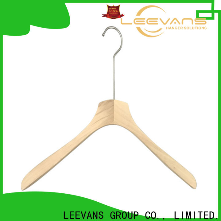 Wholesale childrens wooden coat hangers bar factory for clothes