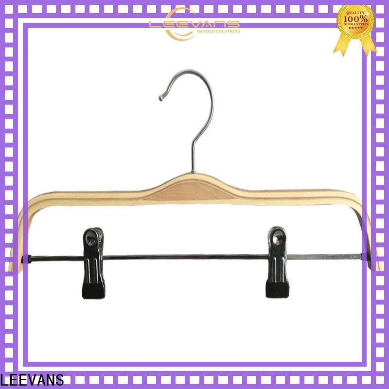 Custom black wooden hangers coat company for children