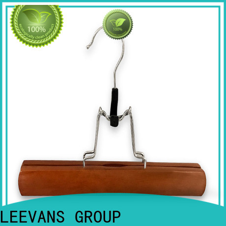 LEEVANS Wholesale buy wooden clothes hangers manufacturers for skirt