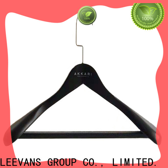 LEEVANS Best wooden suit hangers with clips factory for clothes