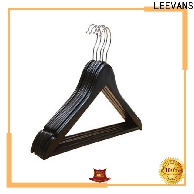 LEEVANS two non slip wooden hangers Suppliers for kids