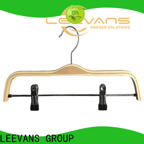 Wholesale wooden pants hangers with clips coat factory for pants