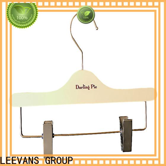 LEEVANS sample buy wooden coat hangers Supply for skirt