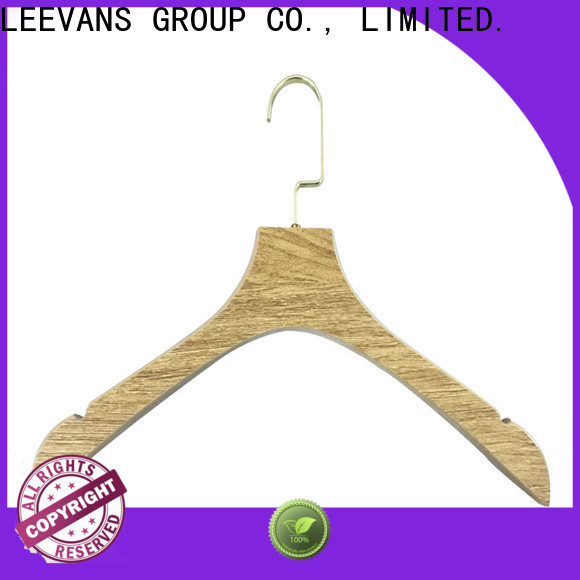 LEEVANS garment wooden pant hangers for business for kids