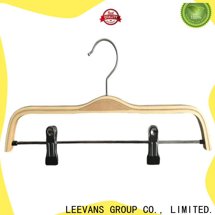 LEEVANS clothes dark wood coat hangers company for pants