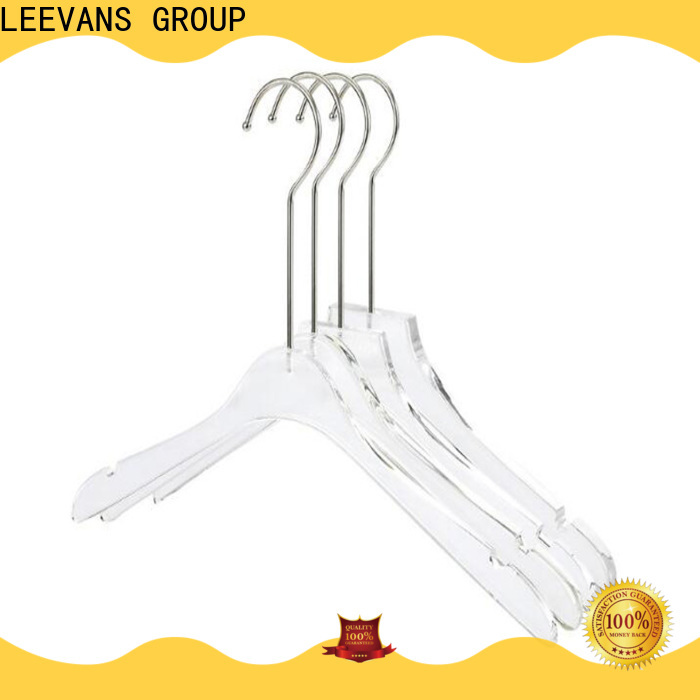 Top acrylic coat hangers metal factory for suits