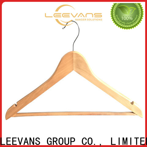 LEEVANS non wooden coat hangers with clips company for kids
