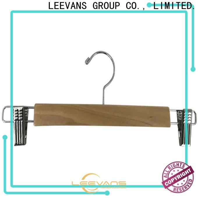 LEEVANS Wholesale wooden skirt hangers for business for skirt