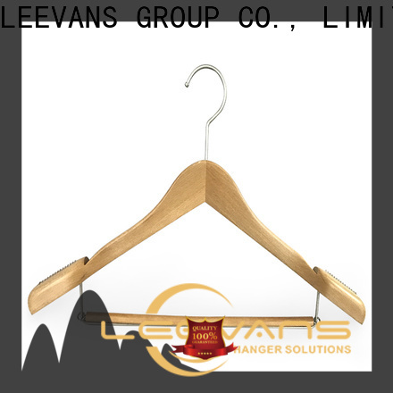LEEVANS High-quality wooden clamp hangers Supply for children