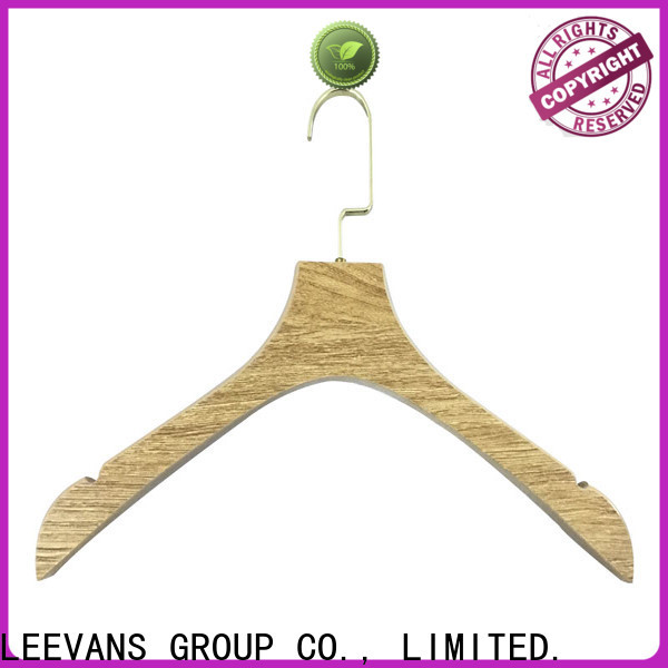 LEEVANS cloth black wooden clothes hangers Suppliers for children