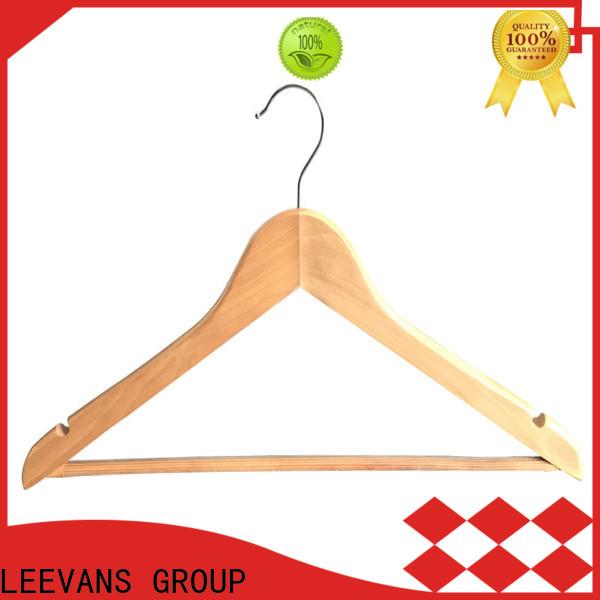 LEEVANS pant cheap wooden coat hangers Supply for children