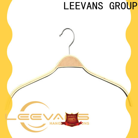 LEEVANS design where can i buy wooden coat hangers factory for skirt