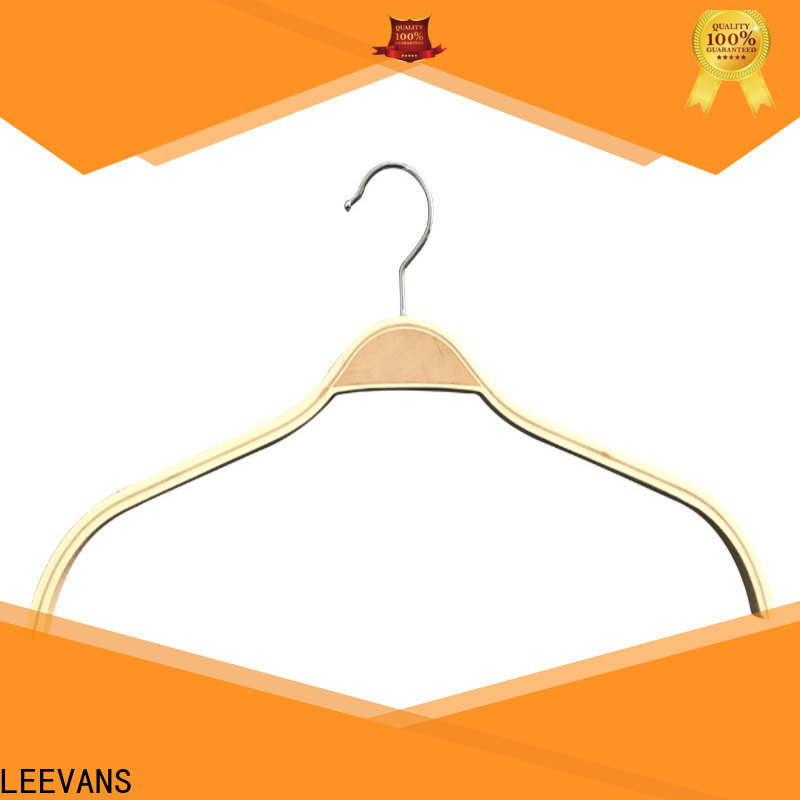 LEEVANS Top white wooden clothes hangers Supply for clothes