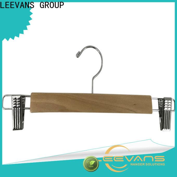 LEEVANS hangers baby wooden coat hangers factory for skirt