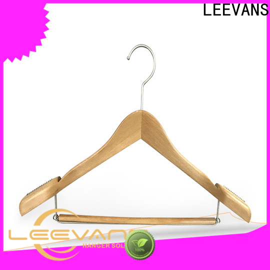 LEEVANS High-quality wooden laundry hanger factory for trouser