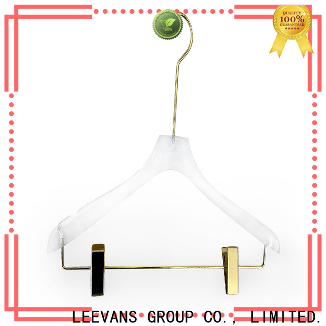 LEEVANS skirt acrylic clothes hangers for business for pant