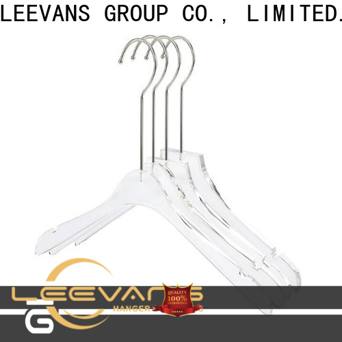 LEEVANS Latest acrylic clothes hangers Suppliers for pant