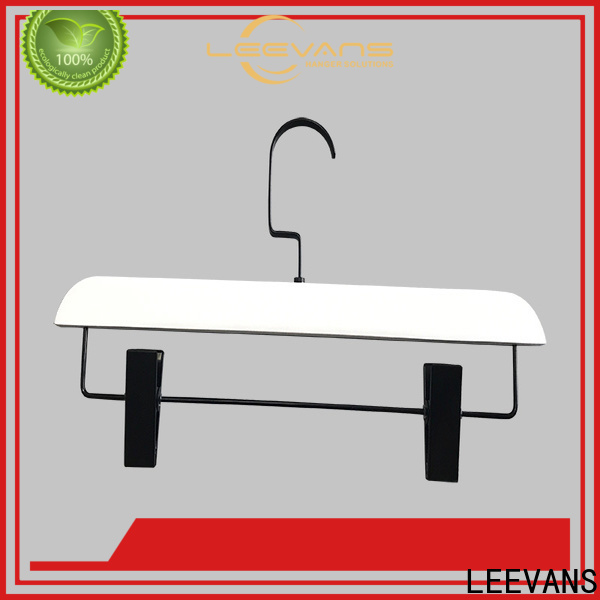 Custom black wooden clothes hangers clips manufacturers for children