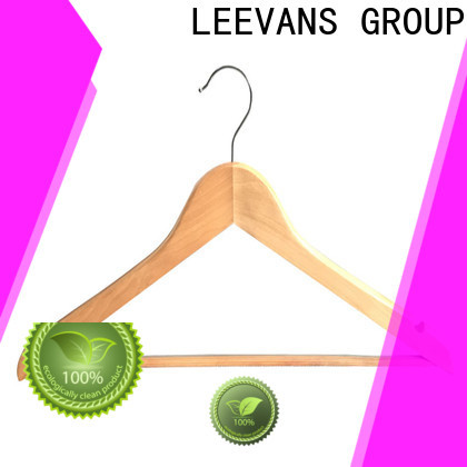 LEEVANS Wholesale pink wooden hangers factory for skirt
