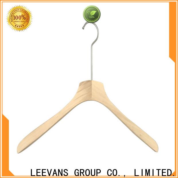LEEVANS finish black wooden hangers wholesale Suppliers for trouser