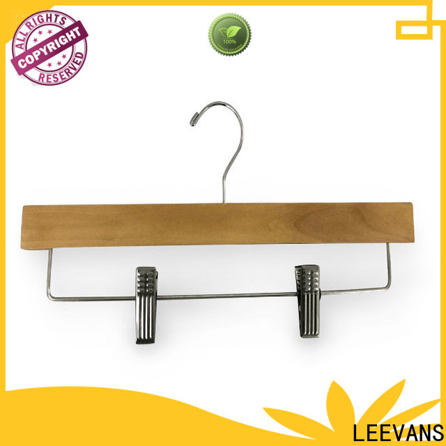 LEEVANS Top wooden coat hangers for sale Suppliers for trouser