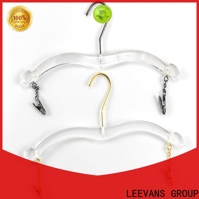 LEEVANS Custom clear acrylic hangers Supply for casuals