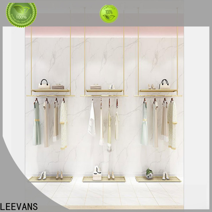 LEEVANS Wholesale clothes display stand for business