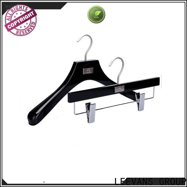 LEEVANS Wholesale black wooden hangers company for pants