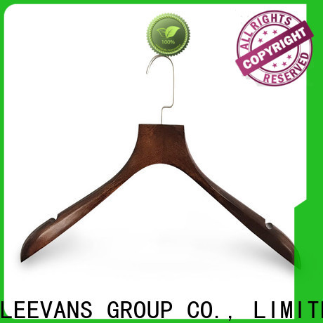 LEEVANS Wholesale light wood hangers company for clothes
