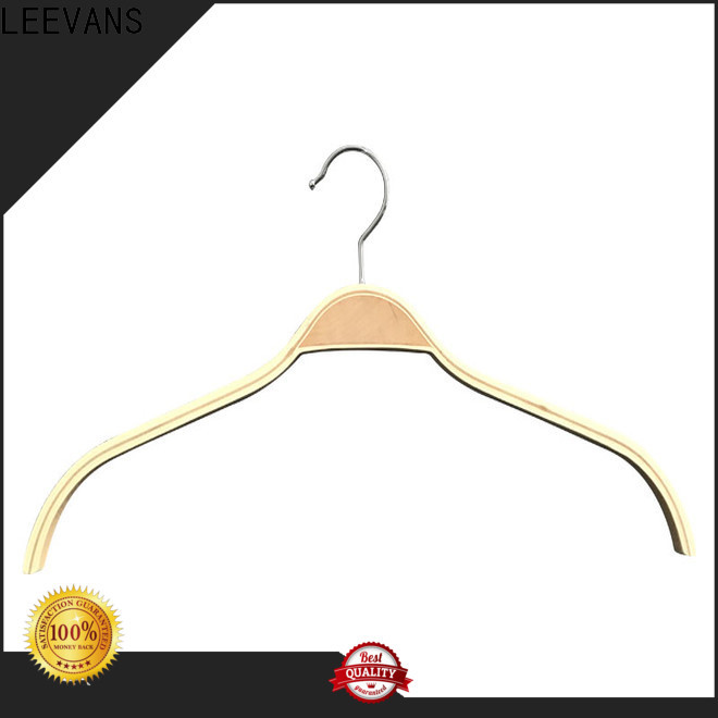 LEEVANS Wholesale wooden shirt hangers Suppliers for skirt