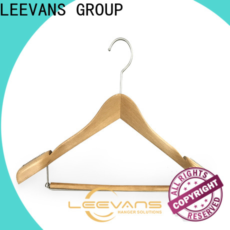 Wholesale brown wooden hangers metal for business for trouser