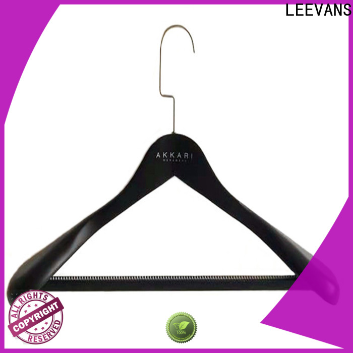 LEEVANS New black wooden hangers Supply for clothes