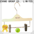 Best quality wooden hangers clamp manufacturers for children