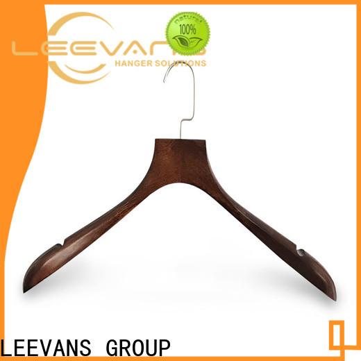 LEEVANS New brown wooden hangers company for kids