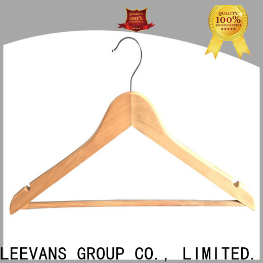 LEEVANS painting black wooden hangers company for skirt