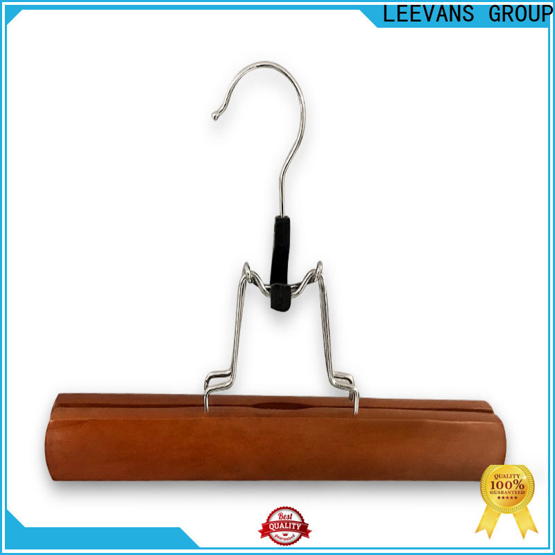 LEEVANS Wholesale wooden coat hangers with trouser clips company for kids