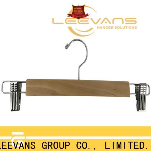 LEEVANS hotel quality wooden hangers Supply for skirt