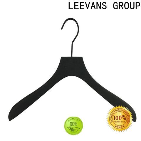 LEEVANS Custom wooden coat hangers with clips Supply for pants