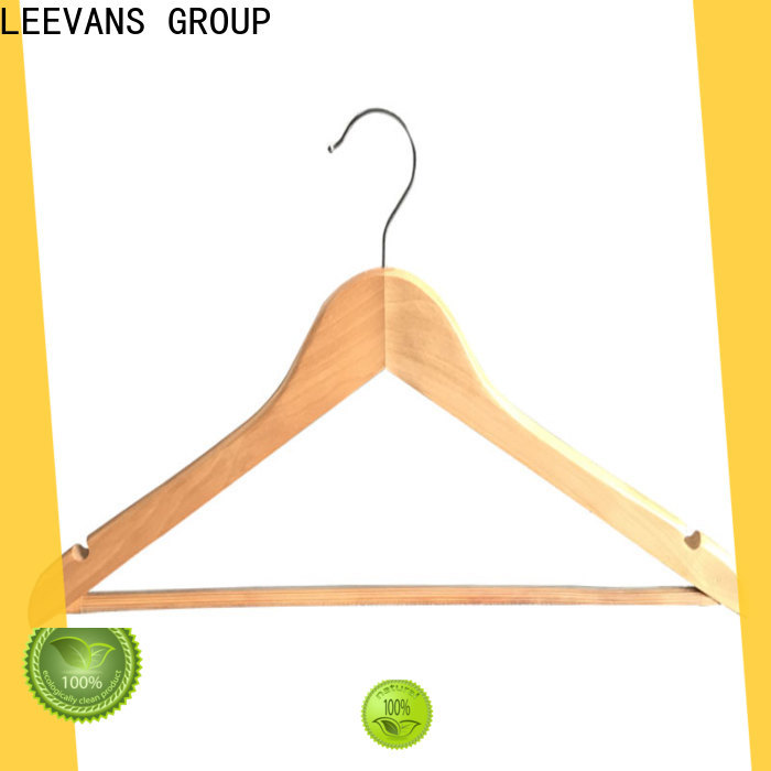 Wholesale clothes hanger clips luxury wooden factory for clothes